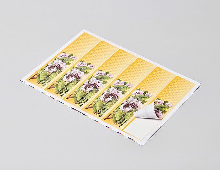 Etikette «Biene mit Blüte»
