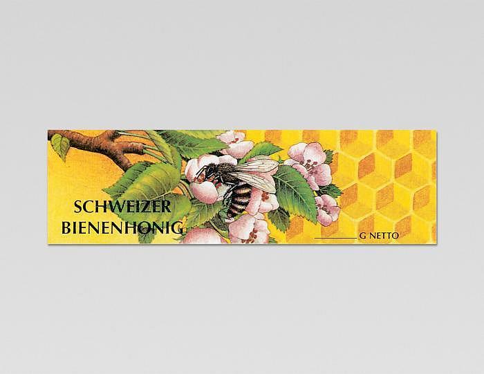 Etikette «Biene mit Blüte» gummiert