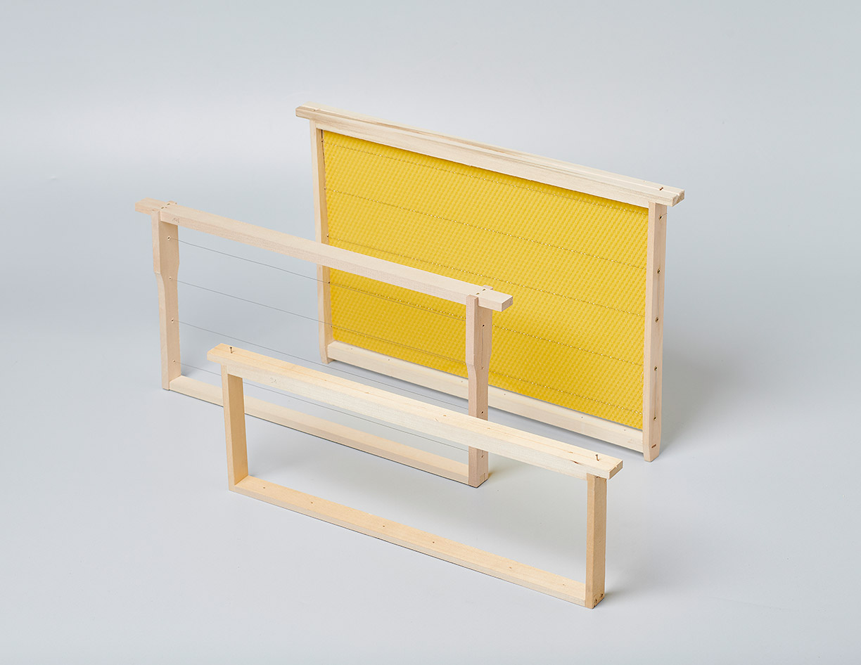 Rahmen mit Draht - Rahmen fertig gedrahtet - Bienen Meier AG
