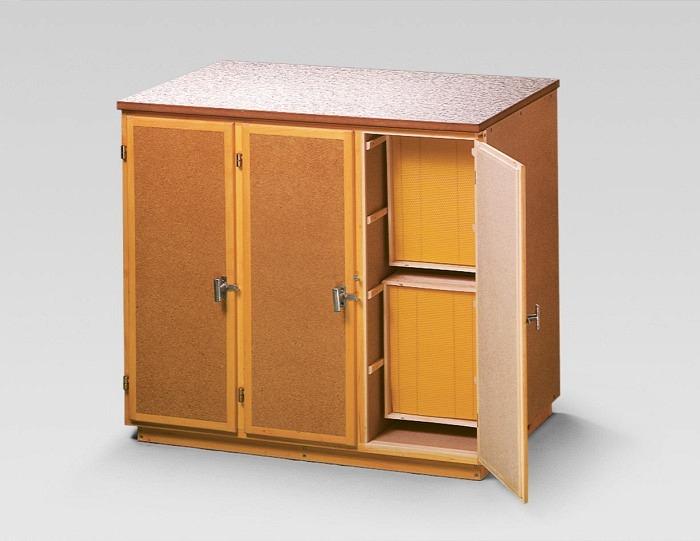 Table de travail/armoire CH 3 portes