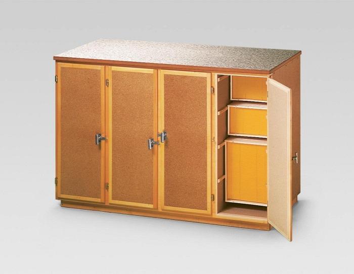 Table de travail/armoire CH 4 portes