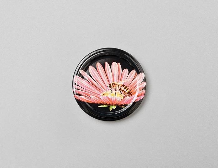 Deckel schwarz mit Blume TO 63mm
