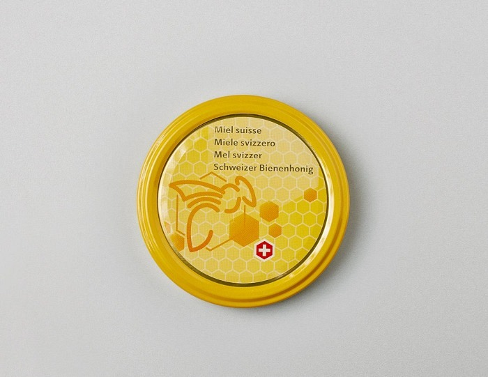 Deckel gelb mit Biene TO 82mm