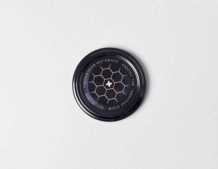 Deckel schwarz mit Wabe TO 63mm