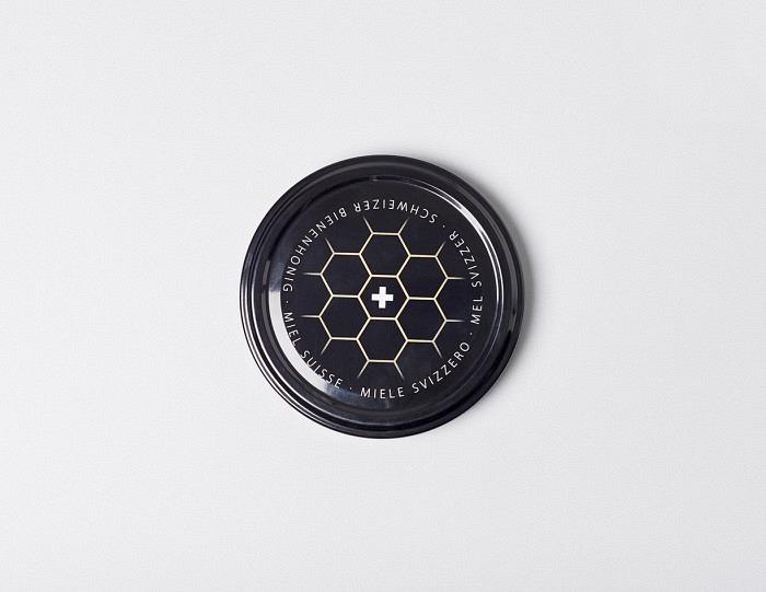 Deckel schwarz mit Wabe TO 82mm