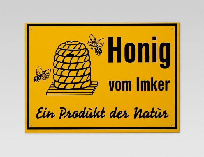 Reklametafel «Honig vom Imker»
