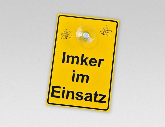 Schild «Imker im Einsatz» deutsch