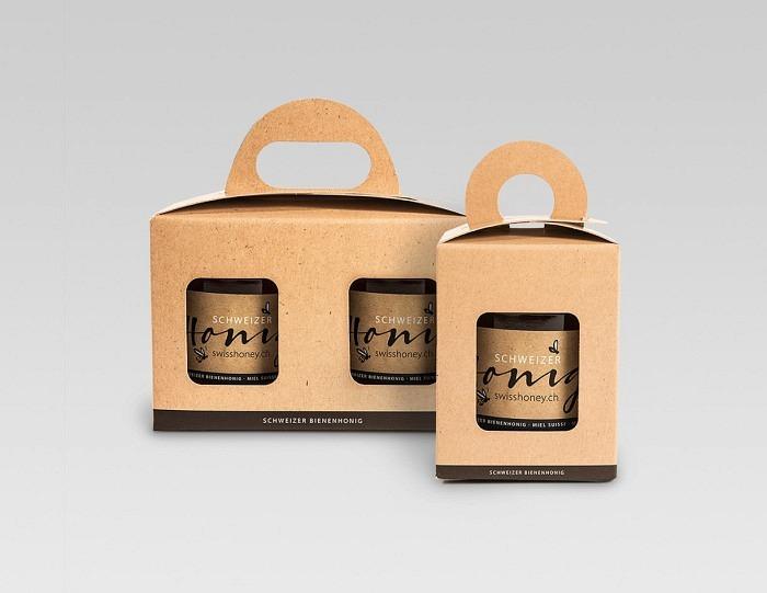 Geschenkverpackung «natur/schwarz»