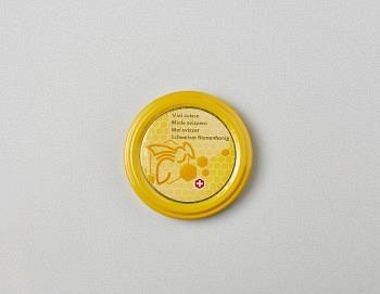 Deckel gelb mit Biene TO 63mm BS
