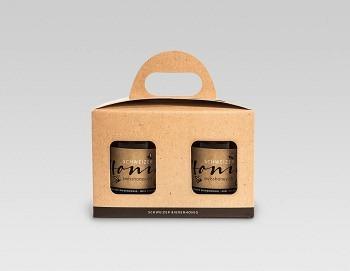 Geschenkpackungen «natur/schwarz» 2x250g