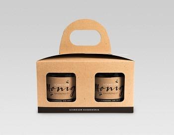 Geschenkpackungen «natur/schwarz» 2x500g