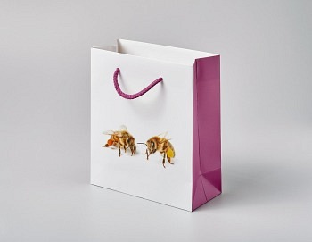 Tragtasche «Boutique Line violett»