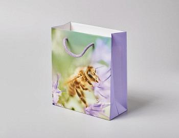 Tragtasche «Boutique Line lila»